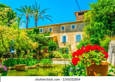 Garden at Son Marroig, former mansion of Archduke Luis Salvado, at Mallorca, Spain