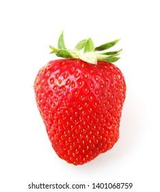 Garden Strawberry Against White Background