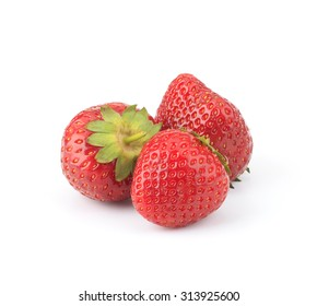 Garden strawberry isolated on white background