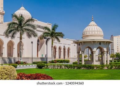 Garden of Sultan Qaboos Mosque in Salalah, Oman