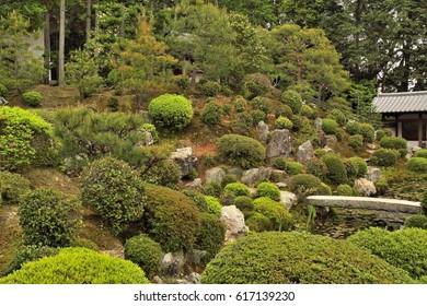 The garden of Tofuku-ji Temple, Kyoto, Japan : May 3, 2011