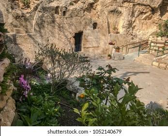 The Garden Tomb Of Jesus Christ in Jerusalem, Israel.