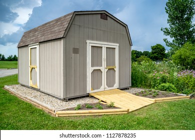 Garden and Tool Shed in Yard