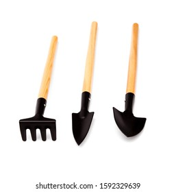 Garden tools isolated on white. tools for gardening and irrigation flowers isolated on a white background