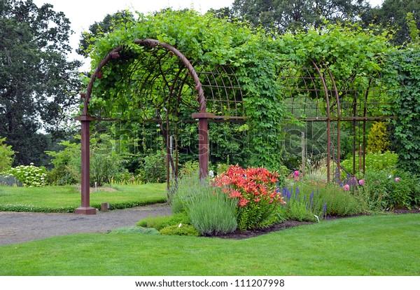 Garden trellis entrance