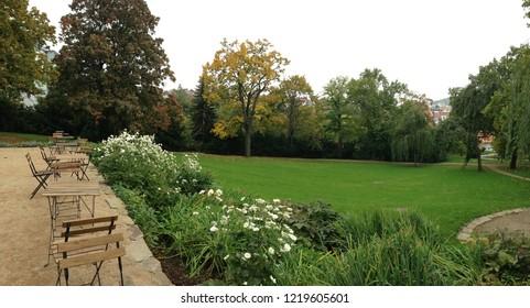 garden of villa Tugendhat in Brno