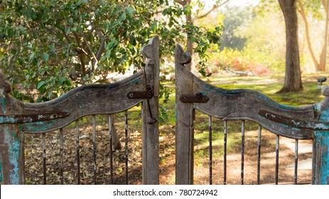 Garden vintage wooden Gate