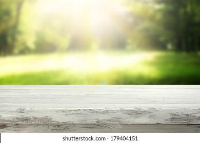 garden and white desk