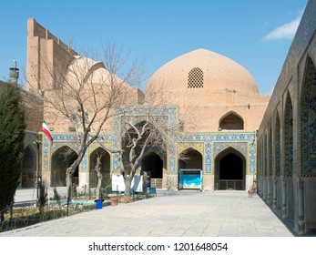 Garden in a yard of Shah mosque, Isfahan, Iran