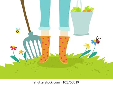 gardening and cultivation cartoon icon