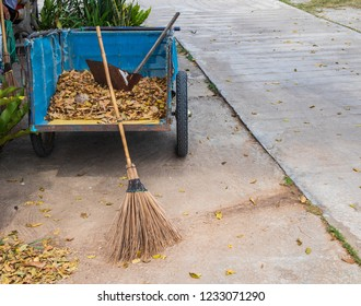 Gardening Tools - Dry leaf with leaves on  farm garden