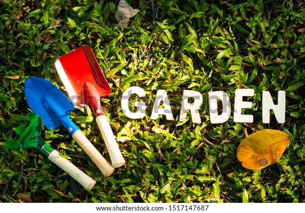 Gardening Tools Equipment Such Shovels Rakes Backgrounds