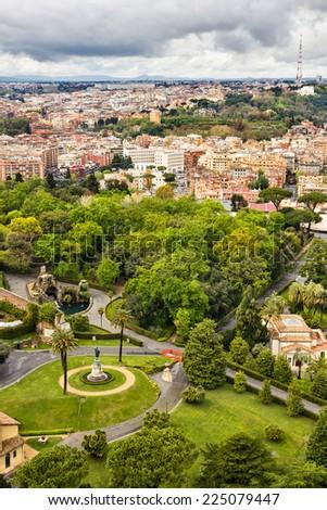 Gardens Beautiful Houses Vatican Inside Rome Stock Photo (Edit Now