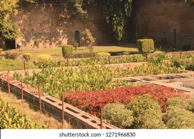 The gardens inside the shaniwarwada fort in Pune, Maharashtra which was the residence of the marathi/maratha warrior general Bajirao Peshwe in the 17th century.