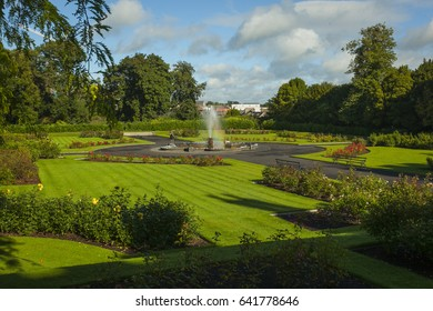 the gardens at Killkenny castle, southern Ireland