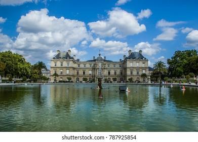 Gardens of Luxemburg/ Jardains de Luxembourg in Paris during summer