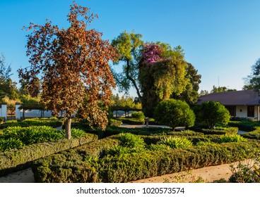 Gardens of Santa Rita Winery, Alto Jahuel, Buin, Santiago Metropolitan Region, Chile