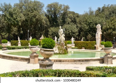 The gardens at Villa Borghese in Rome