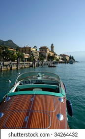 Gardone Riviera (Bs),lake of Garda,Lombardy,Italy,a Riva vintage speedboat meeting