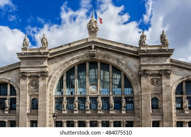 Gare du Nord (North Station, designed by Jacques Hittorff, 1864) - one of the six large SNCF termini in Paris, largest and oldest railway stations in Paris.