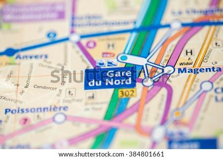 Gard Du Nord Paris Map.Gare Du Nord Station 4th Line Stock Photo Edit Now 384801661