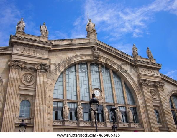 Gare Du Nord Train Station Paris Stock Photo Edit Now 466406315