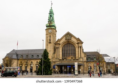 Gare Luxembourg, Luxembourg - November 15, 2017: The current Luxembourg Railway Station was built from 1907 to 1913