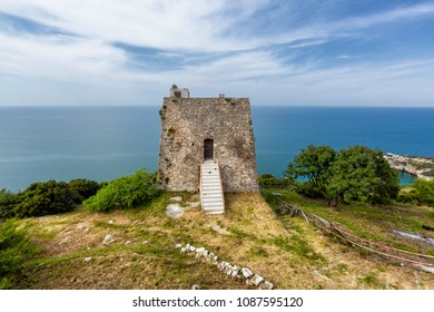 Gargano (Puglia, Italy) - View of the Monte Pucci tower