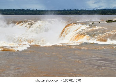 Garganta del Diablo - The Devil´ s Gorge at Iguazu Falls in Argentina, Misiones, South America
