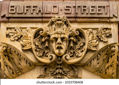 A gargoyle on Buffalo Street in Milwaukee's Historic Third Ward greets (or warns) people as they enter.