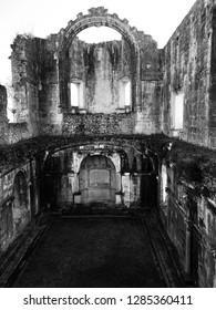 Gargoyles at midevil castle ruins