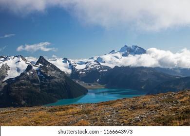 Garibaldi Lake from Panorama Ridge in Canada