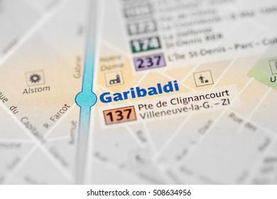 Garibaldi Station. 13th Line. Paris. France