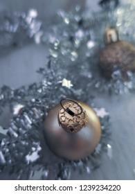 garland and Christmas ball