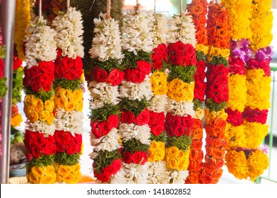 Garland of colorful flowers on sale