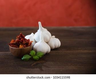 Garlic, Basil and Sun Dried Tomato