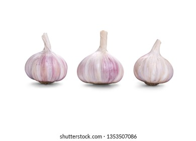 Garlic bulb Isolated against a white background.