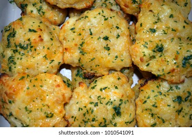 Garlic and cheddar cheese drop biscuits