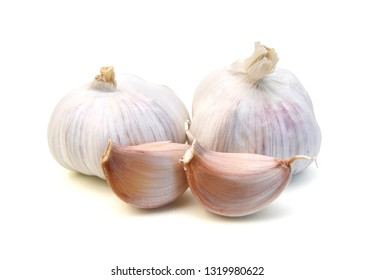Garlic. Group isolated on white background.