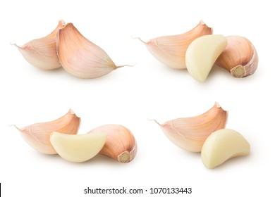 garlic, isolated on white background, clipping path, full depth of field