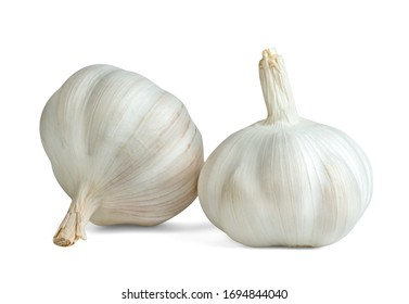 garlic isolated on white background ,include clipping path