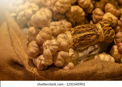 garlic in the sack, it is one of ingredient of many Thai food