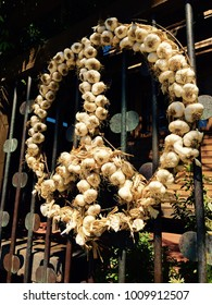 garlic wreath peace sign