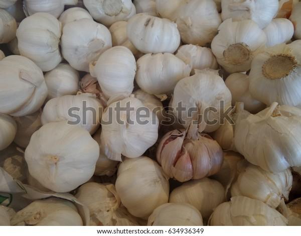 Garlics background