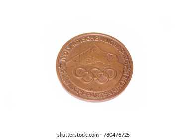 Garmisch-Partenkirchen 1936 Winter Olympic Games Participation medal obverse. Kouvola Finland 26.03.2017