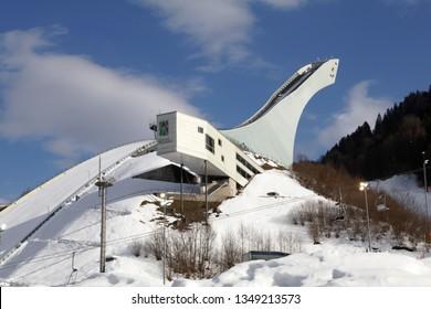 Garmisch-Partenkirchen, Germany, 18. March 2019, Ski jump stadium