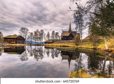 Garmo Stave Church in Lillehammer, Norway