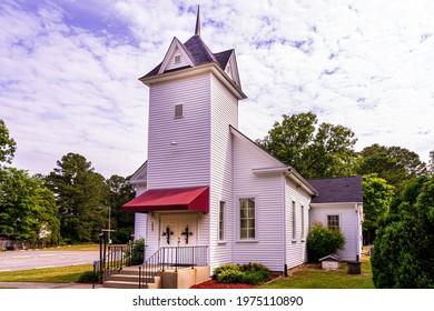 Garner, North Carolina USA-05 17 2021: Broken Wing Fellowship Church is a Non-Denominational Church in Garner.