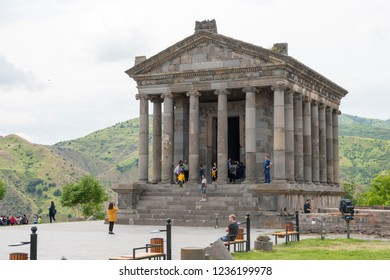 Garni, Armenia - Jun 05 2018- Temple of Garni. a famous Historic site in Garni, Kotayk, Armenia.