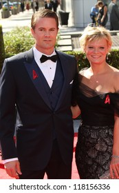 Garret Dillahunt, Martha Plimpton at the 2012 Primetime Creative Arts Emmy Awards, Nokia Theater L.A. Live, Los Angeles, CA 09-15-12